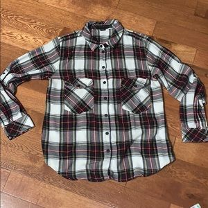 Sanctuary women's plaid flannel medium button down